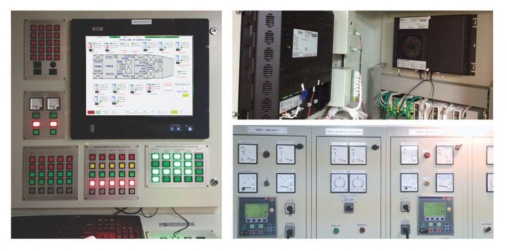 Hình 1. Hình ảnh tủ điều khiển trung tâm của hệ thống giám sát điện tàu